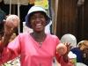 Verkäuferin im Kumasi Zentralmakrt