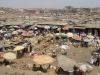 Blick über den Zentralmarkt  von Kumasi