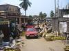 Straße in einer ghanaischen Kleinstadt
