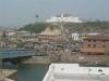 Blick über Elmina zum Sao Jago Castle