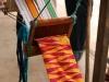 Ein traditionell gewebter Kente-Streifen