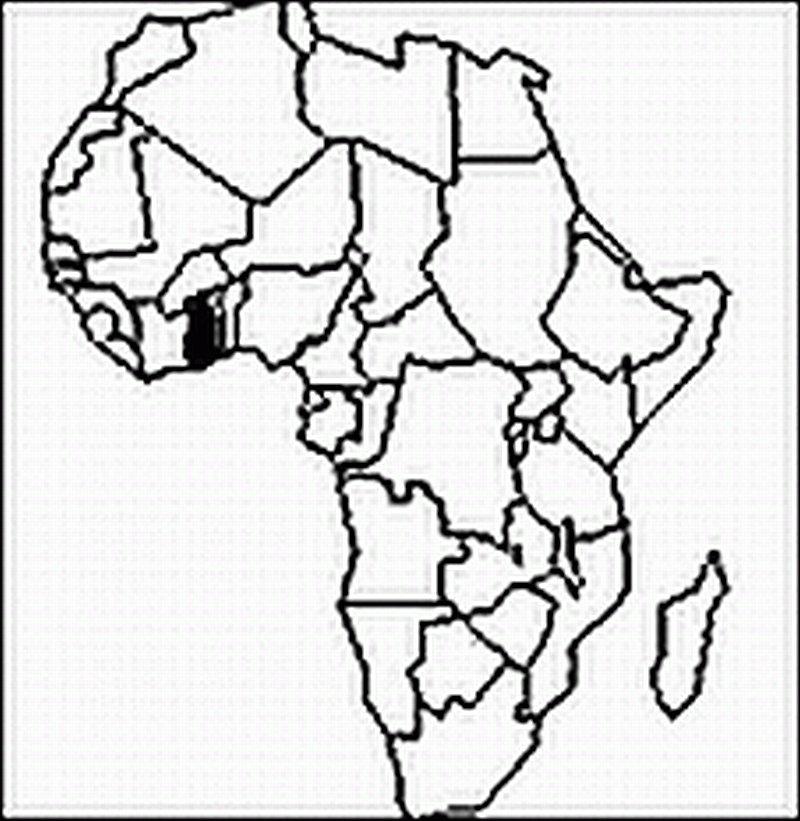 Ghana Karte.Ghana Karte